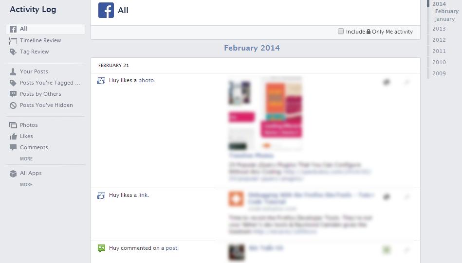 activity log Auto tag Facebook   Làm thế nào để tránh?
